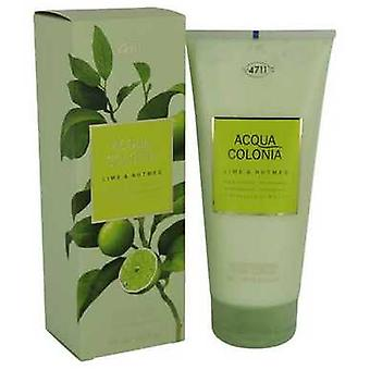 4711 Acqua Colonia Lime & Nutmeg By Maurer & Wirtz Body Lotion 6.8 Oz (women) V728-540804