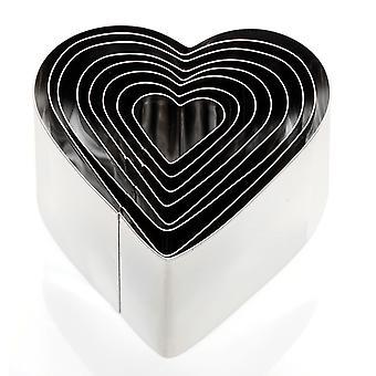 Eddingtons adâncime inima în formă de cookie tăietori, set de 8