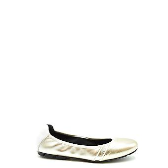 Hogan Ezbc030236 Women's Gold Leather Flats
