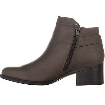 Naturalizador para mujer keaton cuero almendra toe tobillo botas de moda