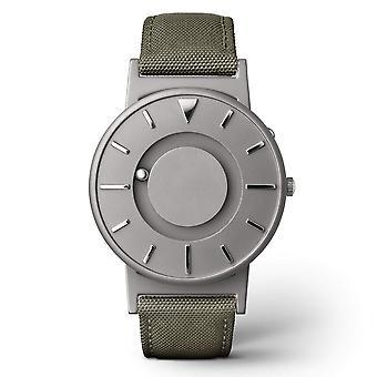Eone Bradley Canvas Olive & Grey Titanium Watch