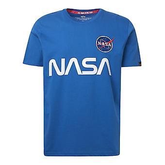 Alpha Industries 178501539 Männer's blaue Baumwolle T-shirt
