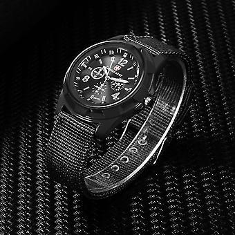 ナイロンバンド軍用時計男性陸軍リストクォーツスポーツパラホンブレ