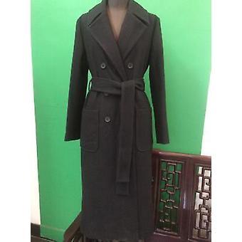الخريف / الشتاء الكلاسيكية بسيطة الصوف ماكسي الإناث الملابس الخارجية معطف طويل