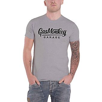 Gas Monkey Garage T Shirt Large Script GMG Logo new Official Mens Grey