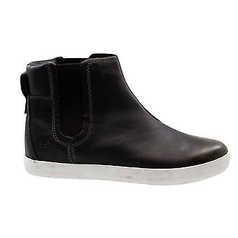 Timberland Glastenbury Chelsea schwarz Leder Slip Auf Damen Stiefeletten A1393