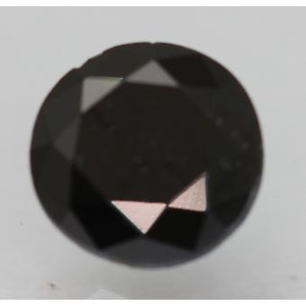 Cert 0.98 Karat Fancy Schwarz Runde brillante verbesserte natürliche Diamant 6,27 mm 3VG