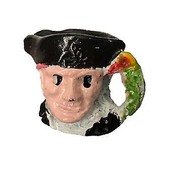 Dolls House Die Cast Toby Jug Miniature Pirate Ornament Pub Accessory