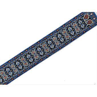 Dolls House Woven Stair Carpet Runner Blue Beige Red  1:12 Flooring