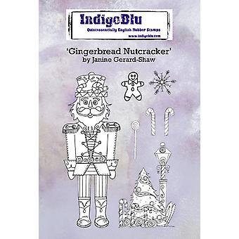 IndigoBlu Gingerbread Nutcracker A6 Rubber Stamps