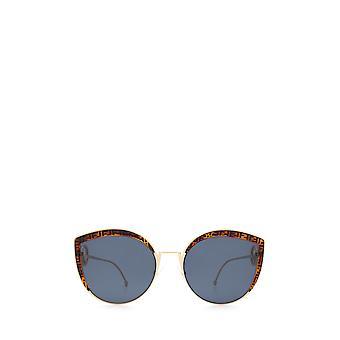 فندي FF 0290/S الذهب النظارات الشمسية الإناث