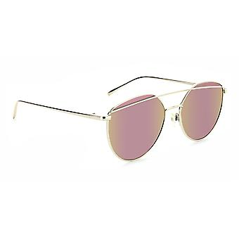 *New* dulcet - rose gold circular polarized sunglasses