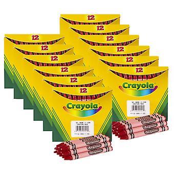 Crayones a granel, tamaño regular, rojo, 12 por caja, 12 cajas