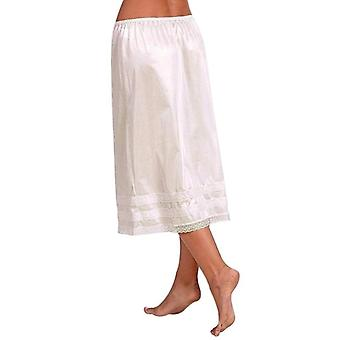 Petticoat Underskirt Solid Polyester Sexy Lace Hem Slips Summer Casual Beach