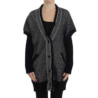 Gray knitted cashmere cardigan