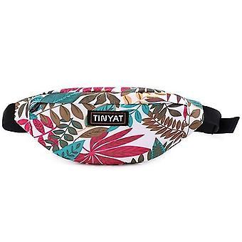 Print Leaf Waist Pack Bag