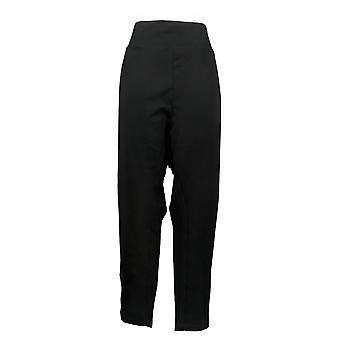 Belle By Kim Gravel Women's Pants Plus Ponte Slim Zippers Black A383463