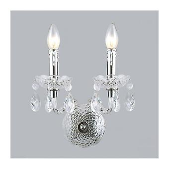 Lámpara De Pared De Cristal Cromado Whiz