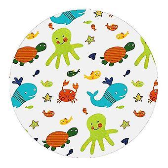 Lastenvauvat ruokkivat syöttötuoli splash pyöreä matto liukumaton taitettava lattia