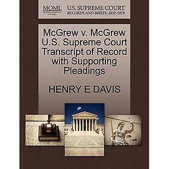 McGrew V. McGrew U.S. Supreme Court Transcript of Record with Support