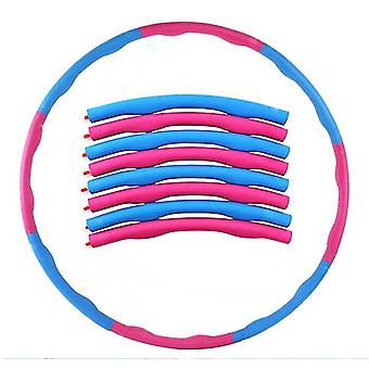 Vaaleanpunainen + sininen painotettu Hula Hoop Vatsan kuntoilija Fitness Core Strength Hoola