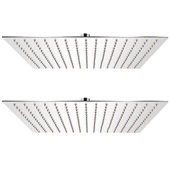 vidaXL Rain shower heads 2 pcs. stainless steel 40 x 40 cm