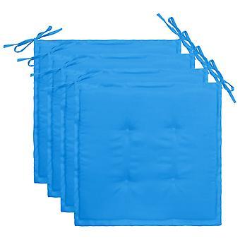 vidaXL Havestol pude 4 stk. blå 40×40×3 cm