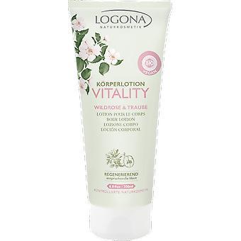 Logona Locion corporal vitality rosa y uva