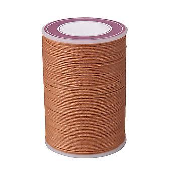 Jasnobrązowo woskowane poliestrowe nici naszyjnik sznury 0,5 mm Craft Okrągły drut gwintowy
