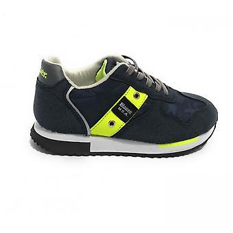 Shoes Blauer Sneaker Dash In Ecosuede/ Nylon Blue Navy Zs21bu04 S1dash02