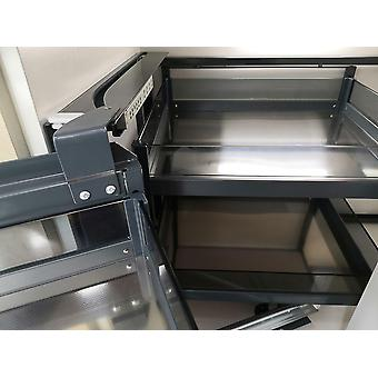 Linked Cabinet Corner Pull Basket Corner Solution Drawer Damping Stainless