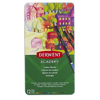 Derwent Academy Colouring Pencils 12 Tin
