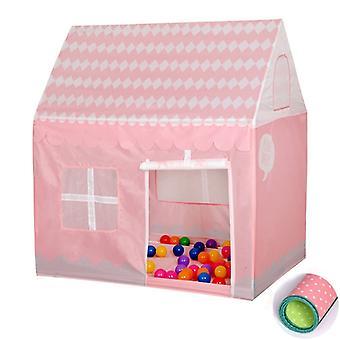 المنزلية الأطفال الطباعة لعب خيمة صغيرة لعبة البيت مع حصيرة (الوردي الفاتح)