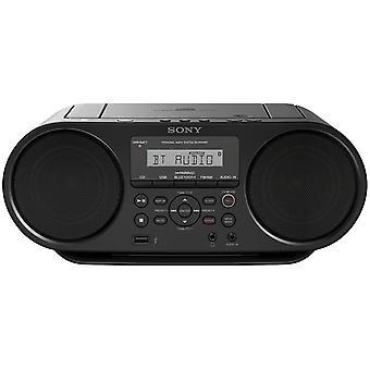 Sony ZS-RS60BT CD und USB Bluetooth Boombox/Radiorekorder (NFC, Mega Bass, UKW Radio) schwarz