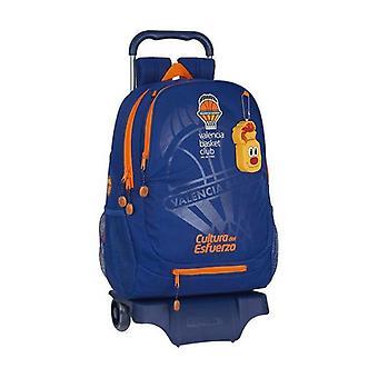 School Rucksack with Wheels 905 Valencia Basket Blue Orange