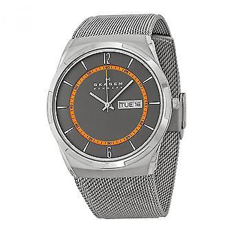 Skagen miesten analoginen kello metallilla pinnoitettu ruostumaton teräs SKW6007