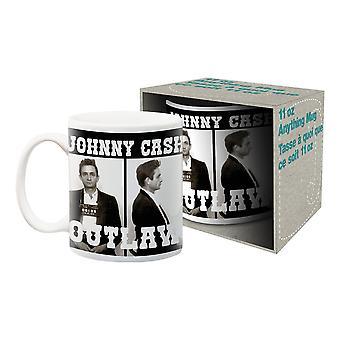 Johnny cash - outlaw ceramic mug