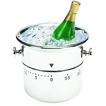 time switch wine cooler 9.7 x 7.2 cm white/silver