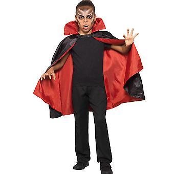 Omkeerbaar satijnen vampier cape kind