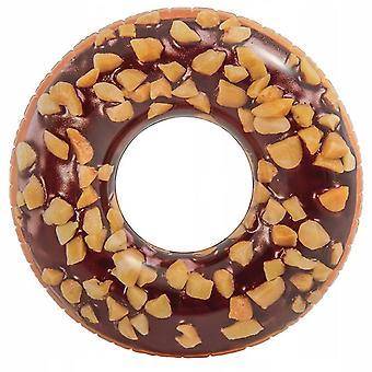 Intex, Uppblåsbar Badring - Donut med Hasselnötter