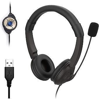 FengChun USB PC Headset mit Mikrofon, Noise Cancelling Mikrofon und Lautstrkeregler, Stereo-Sound