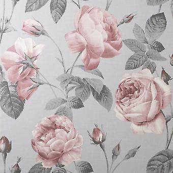 Eden Floral Pink Wallpaper