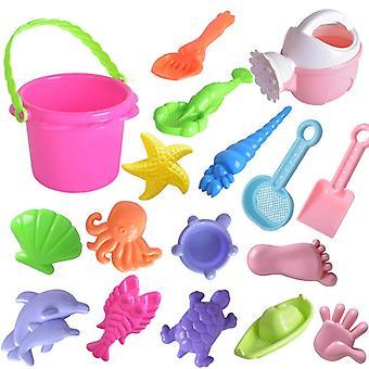 Het strandspeeltje van kinderen vastgestelde de hulpmiddelen van de strandemmer