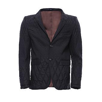 Slim fit black quilted blazer