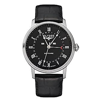 Elysee Analog Watch Unisex Adult Quartz with Leather Strap 77001L