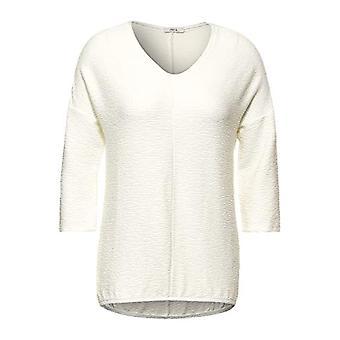 Cecil 315859 T-Shirt, Pure off White, Medium Woman