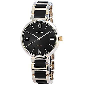 Akzent Analog watch for women, quartz, different materials SS7801000016