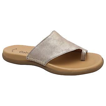 Gabor Guld Slide på tå Post Sandal