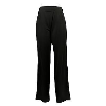 Kvinder med Control Kvinders Bukser Regelmæssig Jersey Wide-Leg Strik Sort A350616