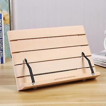 Book Stand Keittokirjan reseptiteline Säädettävä taitettava tarjotin ja sivupaperikiinnikkeet